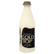 Gold Top Milk and Butter purely from Jersey and Guernsey cows, the best milk from the best cows.